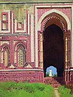 Gate near the Qutub Minar. Old Delhi, vereshchagin