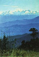 Himalayas in the evening, 1875, vereshchagin