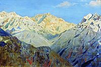 Himalayas. The main peak, 1875, vereshchagin