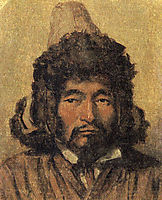 Kazakh with fur hat, c.1867, vereshchagin