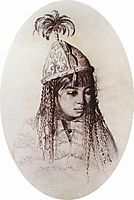 Kyrgyz girl, vereshchagin
