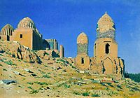 Mausoleum of Shah-i-Zinda in Samarkand, 1870, vereshchagin