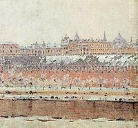 Moscow Kremlin in winter, vereshchagin