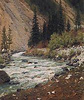 Mountain stream in Kashmir, 1875, vereshchagin
