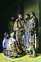 Politicians in opium shop. Tashkent., vereshchagin