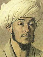 Portrait of a man in a white turban, 1867, vereshchagin