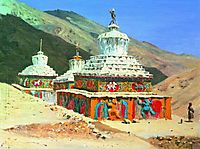 Posthumous monuments in Ladakh, vereshchagin