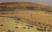 Site of the Battle Fought on July 18, 1877 in front of the Krishin Redoubt near Plevna, 1880, vereshchagin