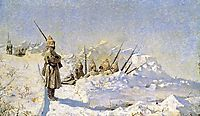 Snowy trenches (Russian position on the Shipka Pass), 1881, vereshchagin