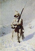 Soldiers in the snow, 1878, vereshchagin