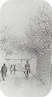 Street in the village Hodzhagent, 1868, vereshchagin