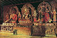 The three main gods in a Chingacheling Buddhist monastery in Sikkim , 1875, vereshchagin