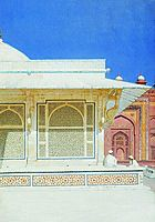 Tomb of Sheikh Salim Chishti in Fatehpur Sikri, 1876, vereshchagin