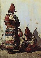 Uzbek dishes seller, 1873, vereshchagin