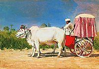 Vehicle in Delhi, 1875, vereshchagin