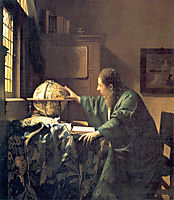 The Astronomer, 1668, vermeer