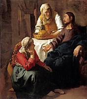 Christ in the House of Martha and Mary, ~1654-1656, vermeer