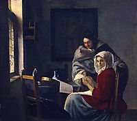 Girl interrupted at her music , c.1661, vermeer