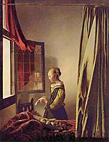 Girl reading a Letter at an Open Window, ~1657-1659, vermeer