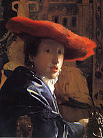 The Girl with a Red Hat, 1665-1666, vermeer