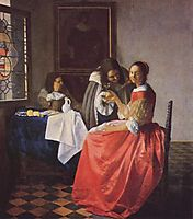 The girl with a wineglass, ~1659-1660, vermeer