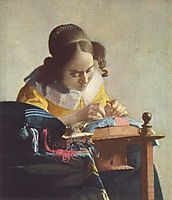 The Lacemaker, ~1664, vermeer