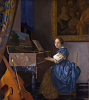 A Lady Seated at a Virginal, ~1670-1672, vermeer