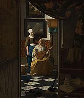 The Love Letter, c.1669, vermeer
