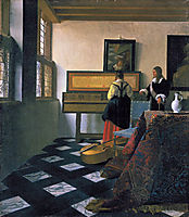 The music lesson, c.1665, vermeer