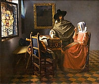 The Wine Glass, 1658-1661, vermeer
