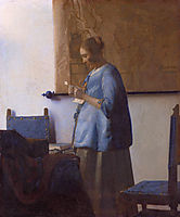 Woman in Blue Reading a Letter, ~1662-1663, vermeer