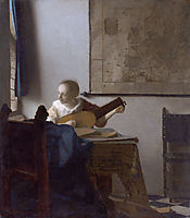 Woman with a lute , c.1664, vermeer