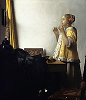 Woman with a pearl necklace, ~1660-1665, vermeer