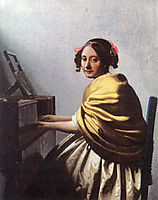 A young Woman seated at the Virginals, 1670, vermeer