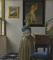 A Young Woman standing at a Virginal, 1670-1673, vermeer