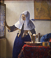 Young Woman with a Water Pitcher , c.1665, vermeer
