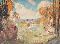 Autumn Allegory (The Art and The Wine), 1924, vermont