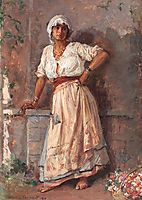 Flower Girl, 1917, vermont