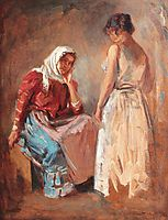 Gipsy Women Talking, 1910, vermont