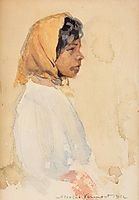 Gypsy Woman with Yellow Headscarf, 1912, vermont