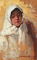 Peasant Woman with White Headscarf, 1925, vermont