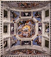 Ceiling of the Sala dell-Olimpo, 1560-61, veronese