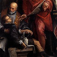 Conversion of St Pantaleon (detail), 1587-88, veronese
