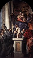 Enthroned Madonna and Child, with the Infant St John the Baptist and Saints, 1562-64, veronese