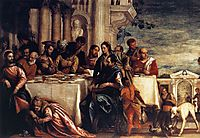Feast at the House of Simon (detail), 1567-70, veronese