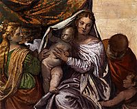 Holy Family with St Catherine and the Infant St John, 1560-61, veronese