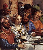 The Marriage at Cana, detail 1, 1563, veronese