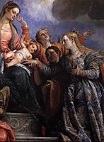Mystical Marriage of St Catherine (detail), c. 1575, veronese