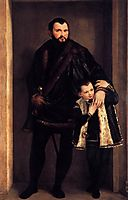 Portrait of Count Giuseppe da Porto with his Son Adriano, 1551-52, veronese