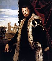 Portrait of a Young Man Wearing Lynx Fur, 1551-53, veronese